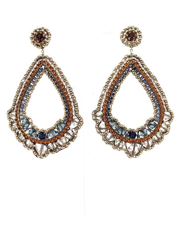 Perlenohrringe | Naturjuwelen und Stoffträume